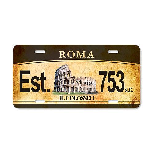 "Targa in metallo Vintage ""Roma - Colosseo"""