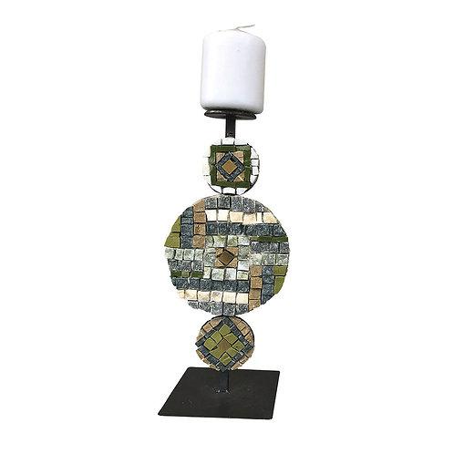 Candeliere di design in Mosaico di smalti Veneziani,  marmi policromi e oro