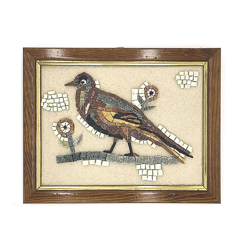 "Mosaico ""Fagiano di Ravenna"" in marmi policromi"