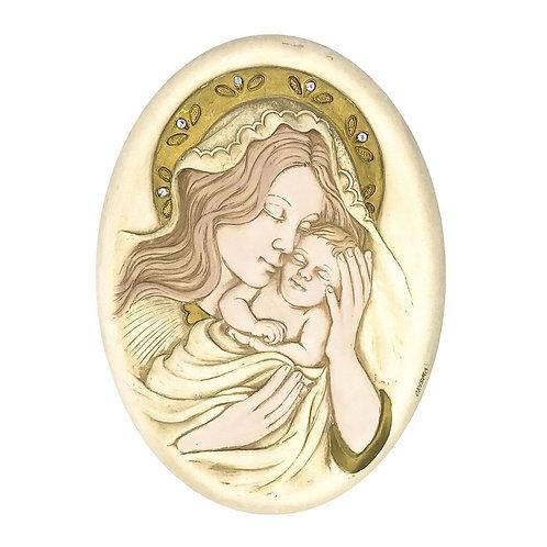 """Quadro ovale """"Madonna con Bambino"""""""
