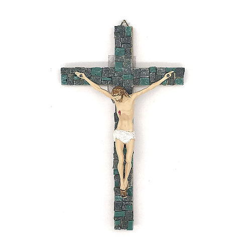 Crocifisso in Mosaico di smalti Veneziani e marmi policromi