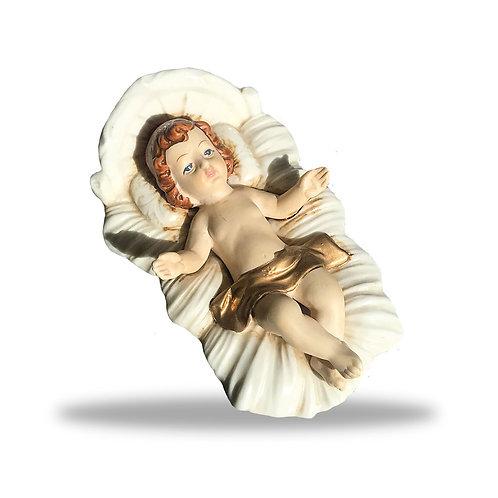 Gesu bambino in  porcellana dipinta