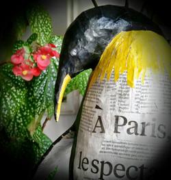 Pingouin en papier Camille Jacobs