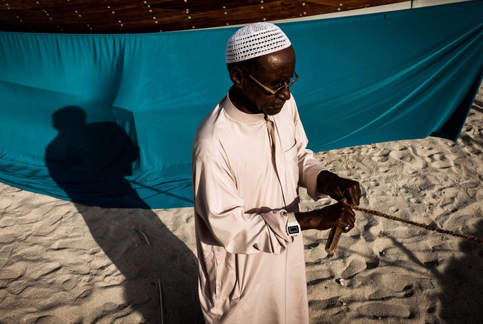 Preforming rope weaving in arab tradition