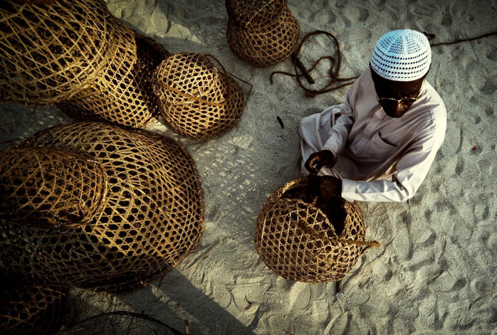 Traditional Fishing Basket of arab people
