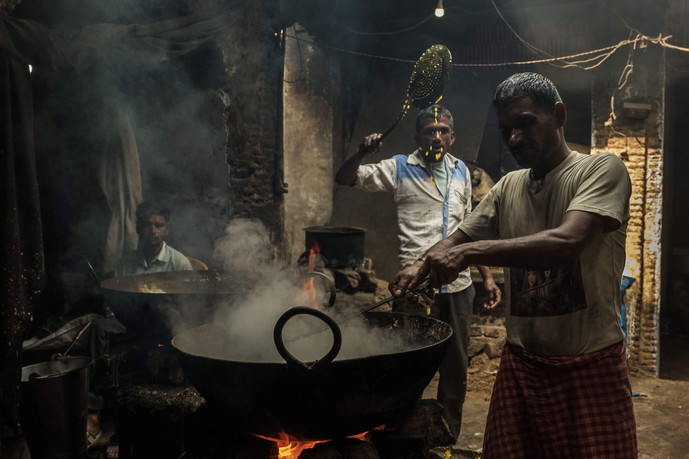 Traditional way of Cooking in India