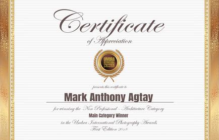 Umbra Awards Certificate