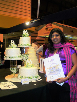 Shanika Clement wins GOLD at the Cake International Competition