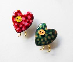 """""""Heart fairy""""brooch pin."""