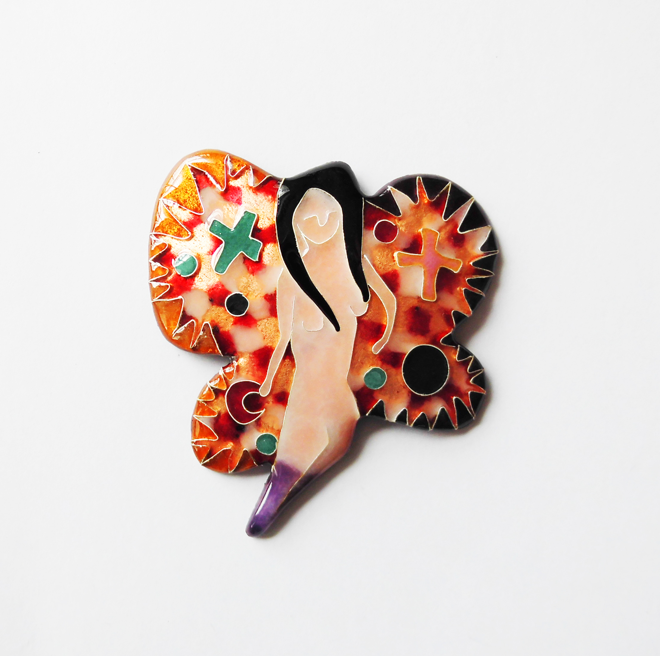 """Butterfly girl""brooch."