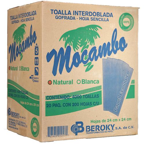 Caja Toalla Interdoblada Mocambo Café
