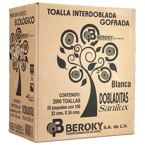 Caja Toalla Interdoblada Dobladitas Sanilux