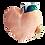 Thumbnail: Hochet doudou abricot