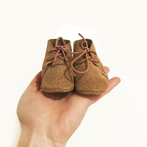Chausson bébé 0-3 mois en cuir