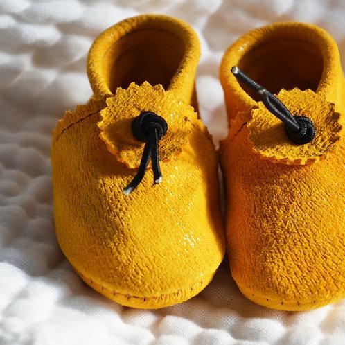 Chausson bébé 3-12 mois - Curry-