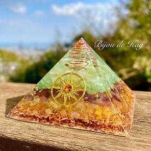 オルゴナイト教室 オルゴナイトの作り方 講習会 黄金比ピラミッド Bijou de Kay
