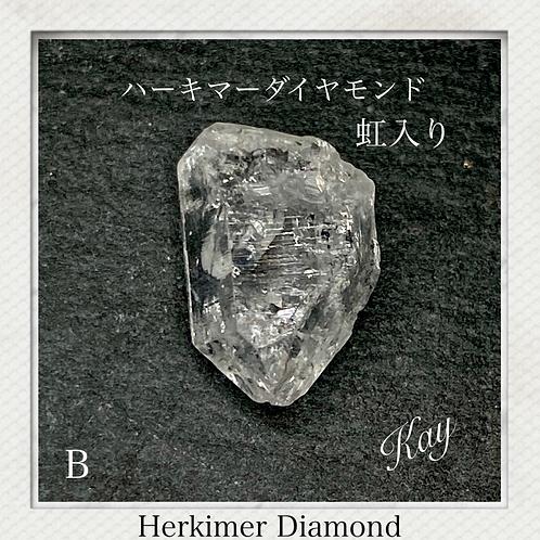 ハーキマーダイヤモンド B 虹入り