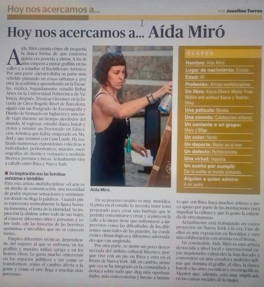Periodico de Ibiza. February 1st 2020.