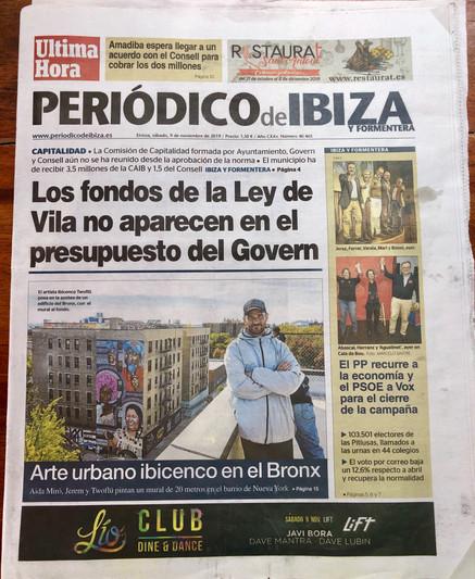 Cover Periodico Ibiza November 9, 2019