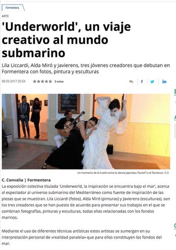 Diario de Ibiza. Underworld in Formentera. May 8, 2017