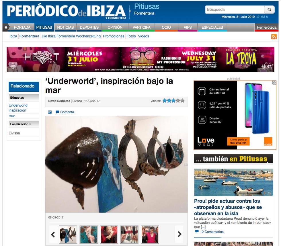 Periodico Ibiza. Underworld, March 11, 2017