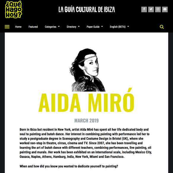 Interview Aida Miró. Cultural Guide of Ibiza. March 2019