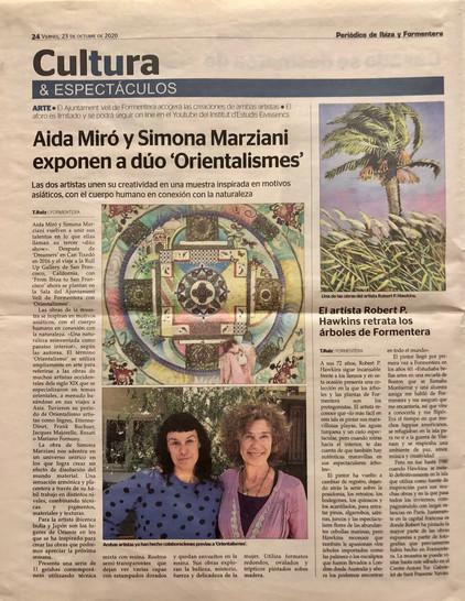 Periodico de Ibiza. October 23, 2020.
