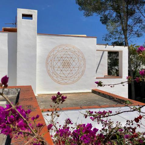 Sri Yantra. Villa Can Miró. 3x3 meters. Ibiza 2020
