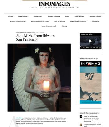 Infomag Magazine. Aida Miro, From Ibiza to SF. August 2016