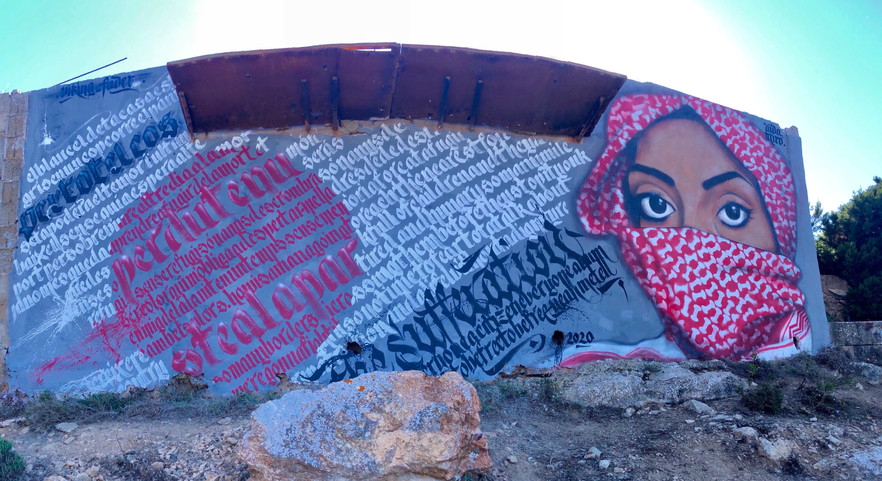 Morts que no compteb. Mural collaboration with Viking Fader. 10x4 meters. Formentera 2020.