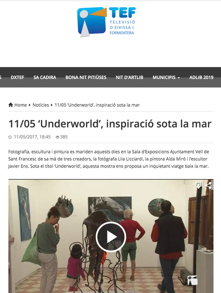 "TEF TV. ""Underworld"" show in Formentera. May 11, 2017"