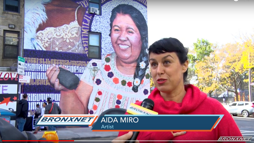 Bronxnet TV mural Tribute to Women and Diversity