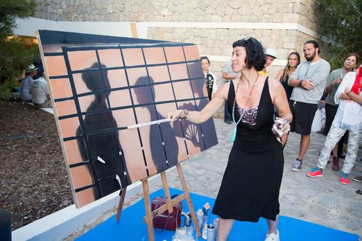 Live painting at Palacio de Congresos of Ibiza. 2016
