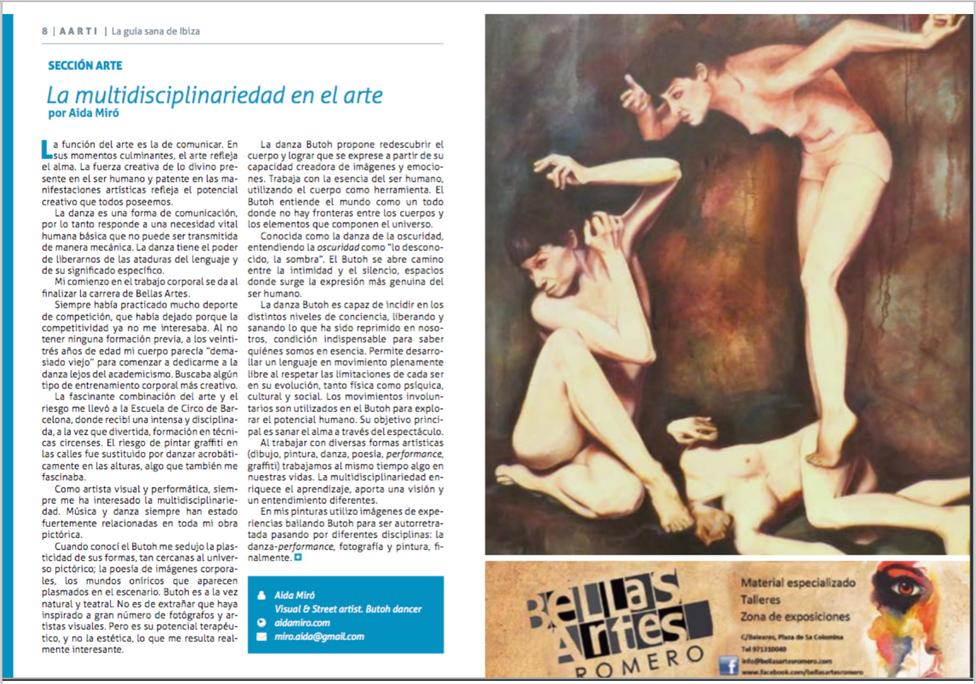 Revista AARTI Ibiza. Agosto 2016