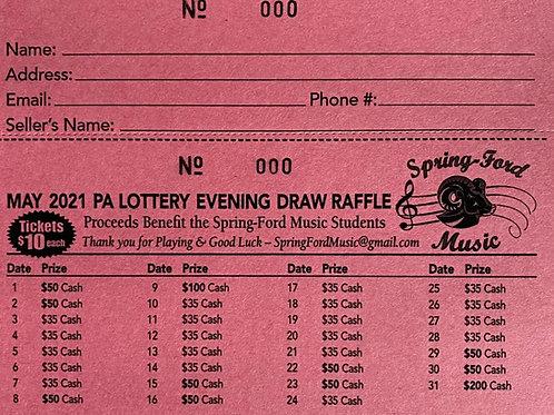 Lottery Calendar - May 2021