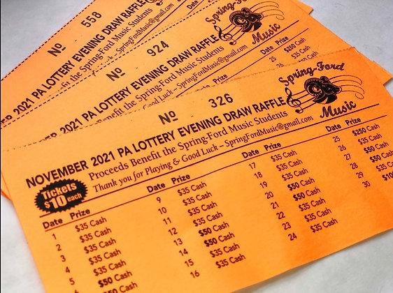 Lottery Calendar - November 2021
