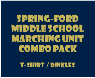 Middle School Marching Unit Combo Pack - T-Shirt/Dinkles