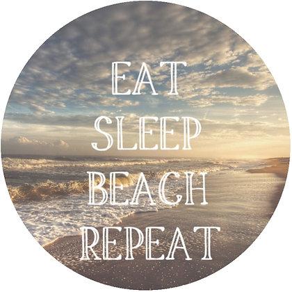 Eat Sleep Beach Repeat Luggage Tag / Ornament