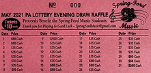 lottery calendar May 2021 - payouts