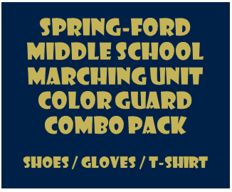Middle School Color Guard Combo Pack - Shoes/Gloves/T-Shirt