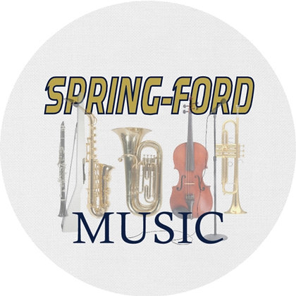 Spring-Ford Music Luggage Tag / Ornament