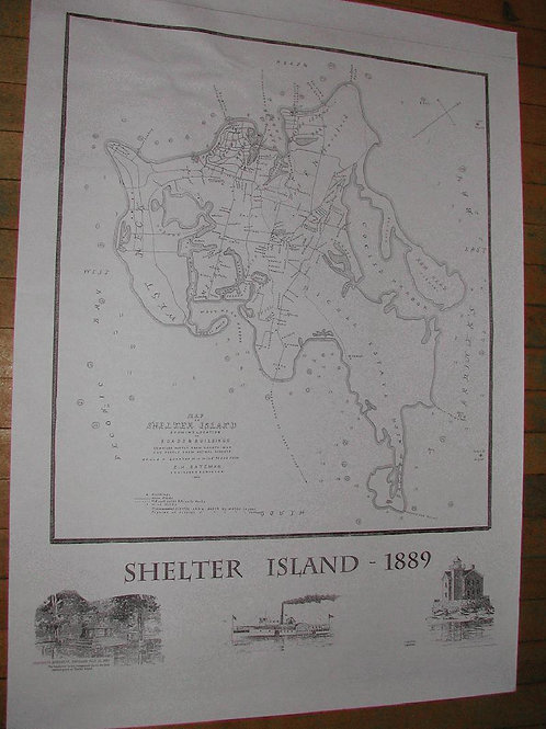 B&W Map of Shelter Island