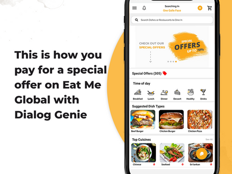 How to pay for a special offer with Dialog Genie