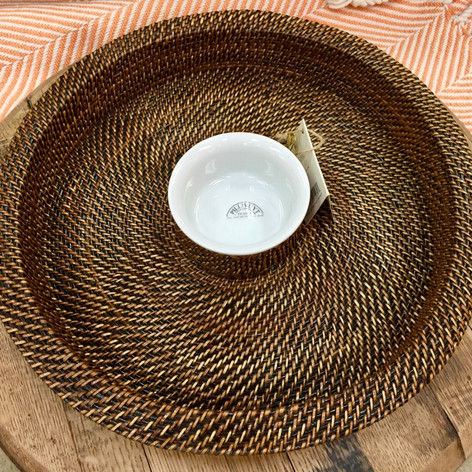 Calaisio Hand-Woven Chip and Dip Server