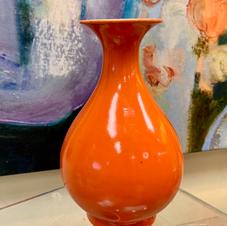 Orange Oriental Vase