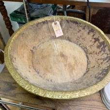 Gold Edged Wooden Bowl