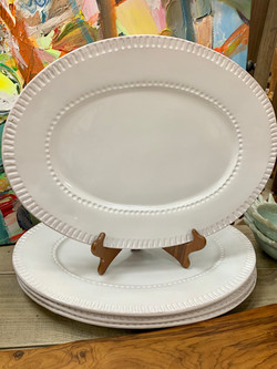 Oval White Serving Platter by Indaba