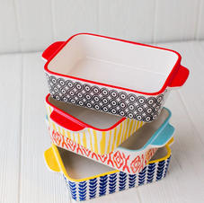 Hand Stamped Small Casserole Dishes
