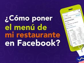 Pon tu menú en Facebook