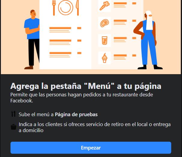 Cómo poner el menú de mi restaurante en Facebook